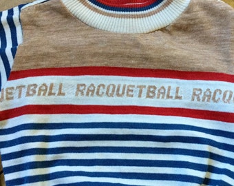 Healthtex Racquetball Shirt - Little Boys Racquetball Shirt - Vintage Sports Clothing - 1970s Healthtex - 1980s Healthtex