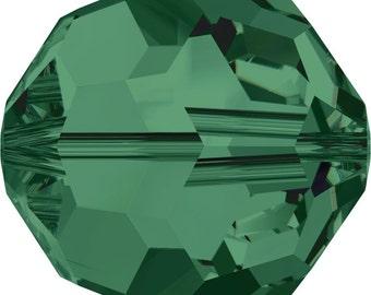 Swarovski Crystal Round Beads 5000 - 3mm 4mm 5mm 6mm 8mm 10mm - Emerald