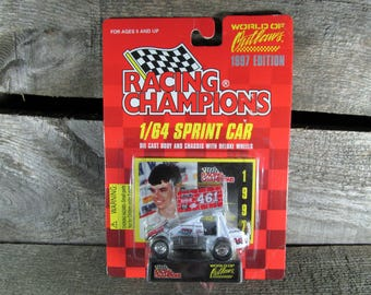 Lance Dewease #461, Racing Champions, World Of Outlaws, Sprint Cars 1997 Edition, 1/64 Scale Die Cast Model Car, Collectible Toys