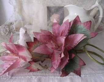 Magnificent vintage silk flower faded boudoir shabby silk flowers