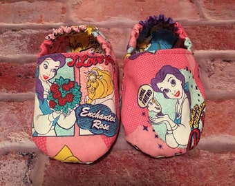 Baby soft shoes rose princess 6-12 months
