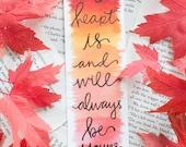 Jane Austen Autumn Bookmark