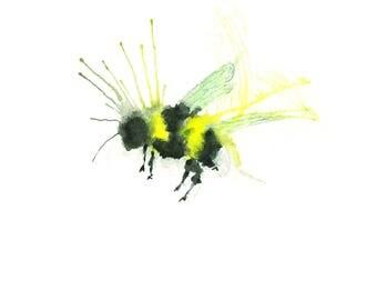 Bumblebee Watercolour Print