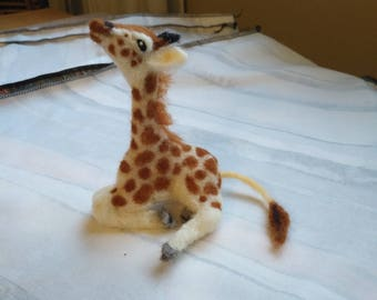 Made to ORDER Baby Giraffe, Realistic Needle Felted Sculpture in Wool