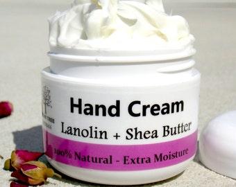 Dry Skin Repair Hand Cream - Lanolin + Shea Butter - Hand moisturizer (2oz)
