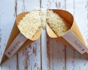 """25 Rice Cones mod. """"Happy Wedding"""""""