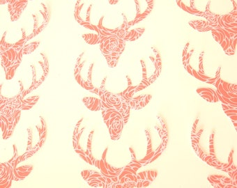 24 pcs Stag head paper punches - Deer with antlers paper die cuts - Deer paper punches cardmaking - Stag party confetti