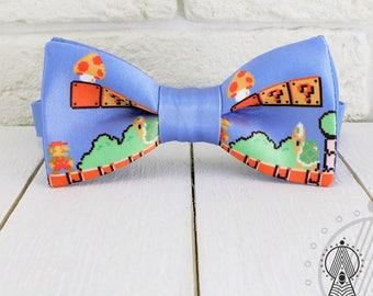 Super Mario Bow Tie, Bowtie 8 bit, Geek pattern, Nintendo bow tie, Men's bow tie, Women's bow tie, Children's bow tie