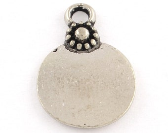 Metal Stamping Blank Tags Silver Stamping Blanks 10 pieces Circle Stamping Blanks Hand Stamping Blank Charms