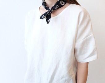 Navy Block Printed Neck Tie