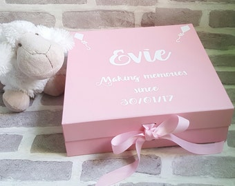 Baby Memory Box, New Baby Keepsake Box, Christening Box, Baby Memories Box, New Baby Gift, Christening Gift