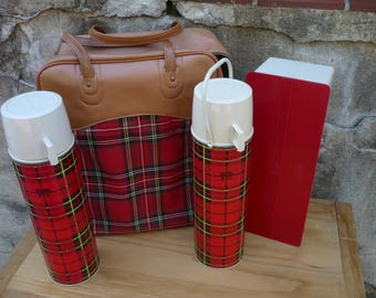 Plaid Thermos Picnic Set