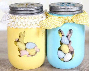 Easter Jars - filled with chocolate eggs