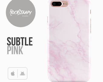 Pink Marble Phone Case, iPhone 7, 6, 6s Plus, Samsung Galaxy S8, S7,  S6 Cover, 5S, SE, 5C Subtle Pink fashion cell phone case