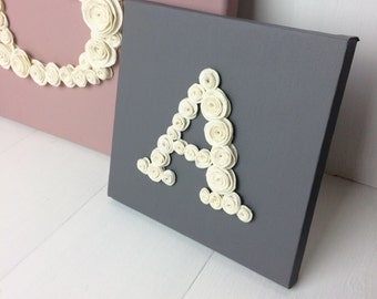 Letter Wall Hanging - Initial Home Decor - choice of canvas colour  and letter, ampersand &, hashtag #, question mark ?, @