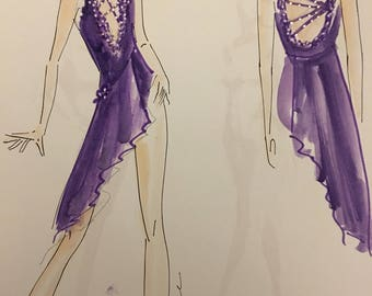 Salsa dance costume, custom salsa dance costume, custom dance costume design, custom salsa dance dress ,salsa costume.
