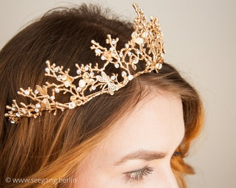 Bridal Tiara Vintage Gold  Princess