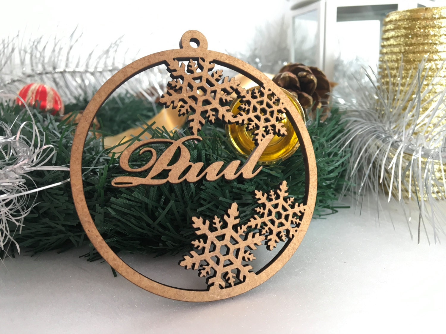 Personalised Wooden Bauble Personalized Christmas Tags