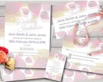 Boho Chic Einladung Suite, Boho Einladungen Suite, Boho Hochzeitseinladung  Festgelegt, Boho Einladung Set
