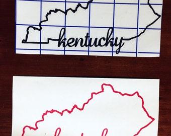 Kentucky vinyl sticker