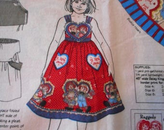 Daisy Kingdom Fabric panel for a Girls Jumper, sizes 4,6,8.
