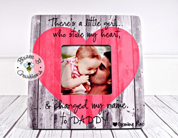 on sale new daddy picture frame first fathers day gift dad and baby girl daddy daughter picture frame theres a girl best daddy gift from