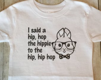 Hip Hop Easter Bunny Tee | Rappers Delight Tee | Easter Tee | Hipster Easter Bunny | First Easter