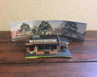 "Vintage Bachmann Railroad Drive-In Bank/ Measures: 5"" x 3.25"" x 1.25"""