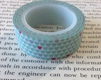 Cute Heart Washi Tape, Junk Journals, Journal, Snail Mail, Travelers Notebook