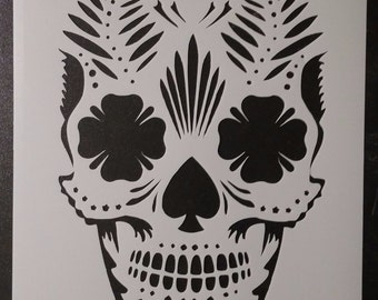 Day of the Dead Dia de los Muertos Sugar Skull Custom Stencil FAST FREE SHIPPING