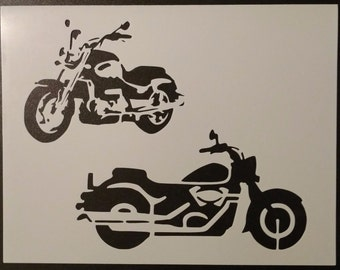 Motorcycle Motorcycles Bike Bikes Custom Stencil FAST FREE SHIPPING