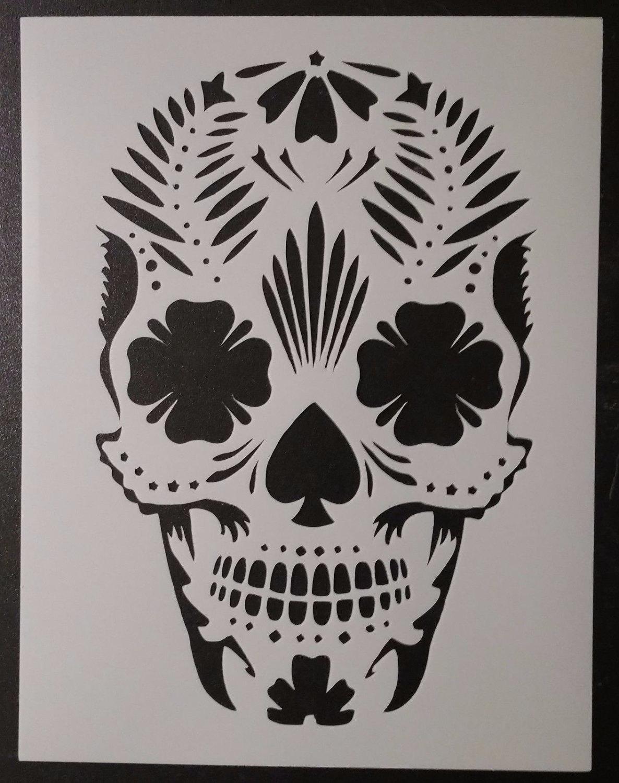 Day of the Dead Dia de los Muertos Sugar Skull Custom Stencil