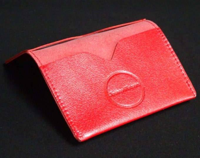 Bantam Wallet - Holds 12 cards and cash - Red - Mens Womens Custom Strong Slim Card Holder Sleeve Wallet RFID Credit Card Chip Protection