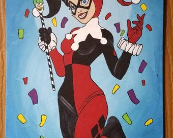 Harley Quinn Acrylic Painting {11X14 Inch}