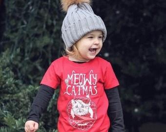 Funny Christmas Shirt, Cat Christmas Shirt, Meowy Christmas Shirt, Funny Christmas Shirt, First Christmas Gift, Meowy Catmas