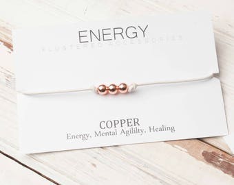Copper Choker, Leather Choker, Copper Necklace, Energy Jewelry, Copper Jewelry,  Gift,