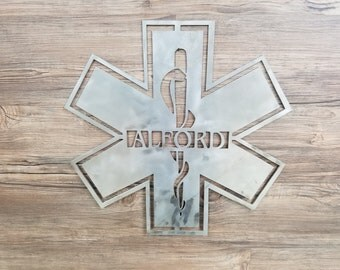 EMS Emblem With Name (Home Decor, Wall Art, Metal Art, {Can Be Personalized})
