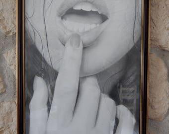 "Angela White portrait, ""Read My Lips"""
