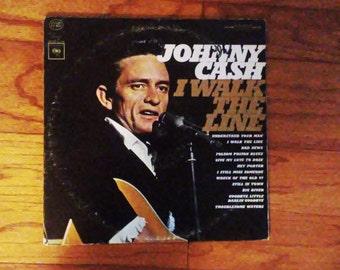 Oringinal Johnny Cash, I Walk the Line LP Vinyl record