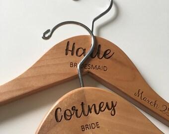 Bridesmaid Hangers | Wedding Hanger | Bride Hanger | Bridal Hanger | Wedding Dress Hanger | Personalized Hanger | Bridal Shower Gift | Bride