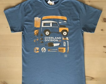 Land Rover Series 2 / 3 Overland Divsion t-shirt