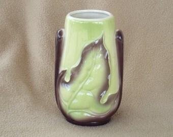 Leaf Vase; Royal Copley Vase; Vintage Vase