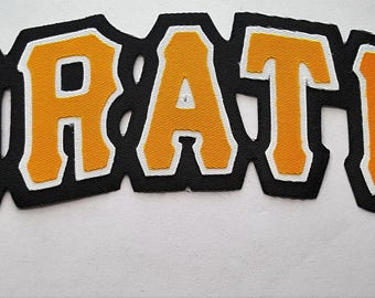 Huge Pittsburgh Pirates Iron On Patch