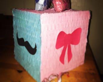 Gender reveal pull string piñata