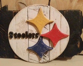 Pittsburgh Steelers Wooden Sign