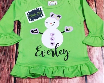 Snowgirl Personalized Top