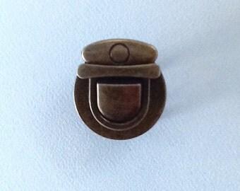 Bag Clasp Closure Lock Antique Brass