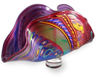 Abstract Hand Blown Glass Vase