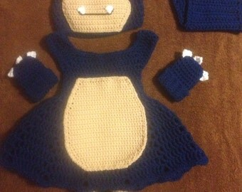 Crochet Snorlax inspired outfit