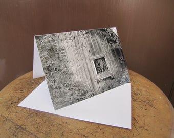 Photo Card, Notecard, Old Farm Notecard, Original Card, Old Farm Photography, Blank Greeting Card, Black & White Photography Card